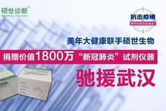 美(mei)年大健康碩(shuo)世生物捐贈(zeng)1800萬新(xin)冠肺炎試(shi)劑馳援武漢