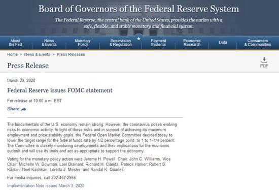 CF40:美联储紧急降息之后 全球央行面临两难选择