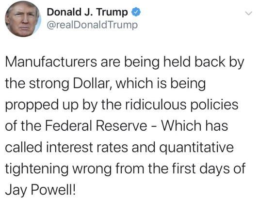 又是特朗普!强势美元与美联储都遭炮轰 金价要涨?