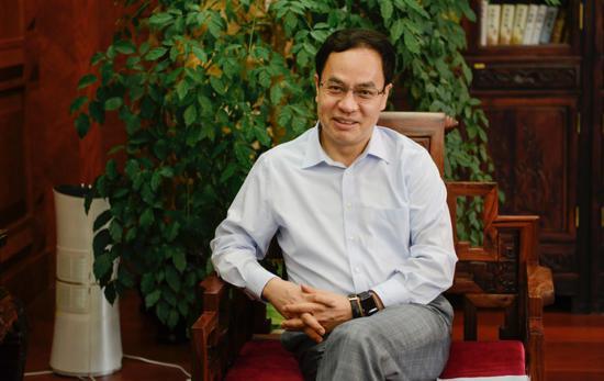 汉能董事局主席李河君。来源:视觉中国