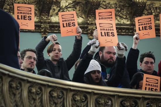遭强烈反对后 亚马逊声明不会在纽约建设总部(全文)
