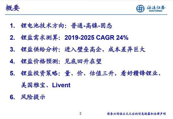 黄金浩劫海通证券:全球锂业价值重估量价估值齐升 投资