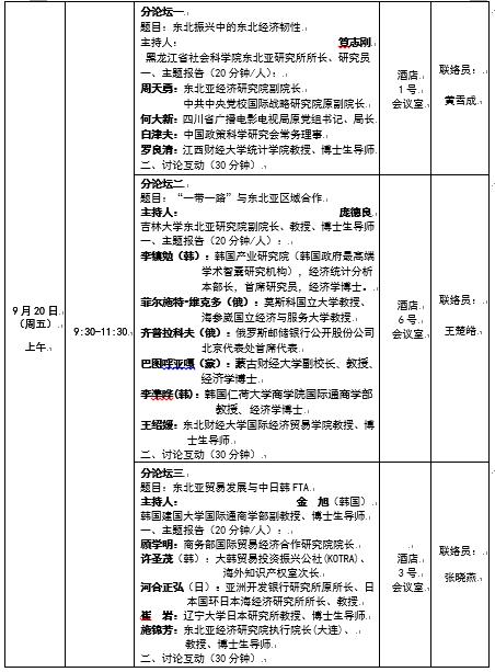 2019东北亚经济论坛将于9月19日