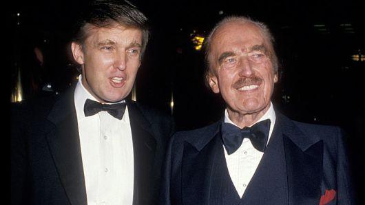 特朗普和父亲弗雷德-特朗普,1987年