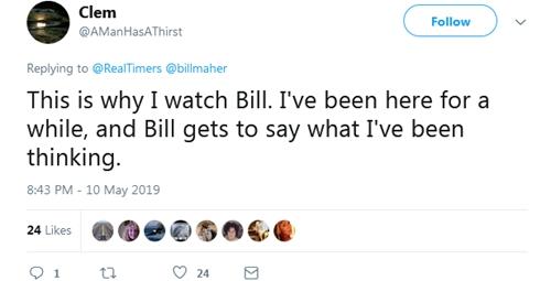 HBO脱口秀掌管人抨击民主党人光知道诉苦显得很弱 网友:100%同