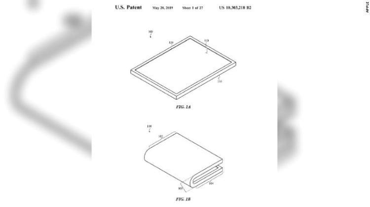 苹果获得可折叠屏幕专利