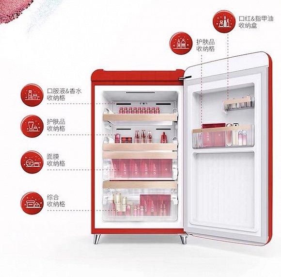 当姑娘们学美妆博主冷藏化妆品后,美妆小冰箱开始流行起来