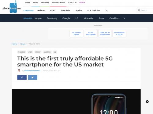 """酷派5G手機獲頒美國知名評測媒體""""CES最佳"""""""