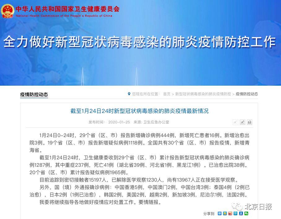 最新!2岁女童确诊新型肺炎,武汉新增死亡15例