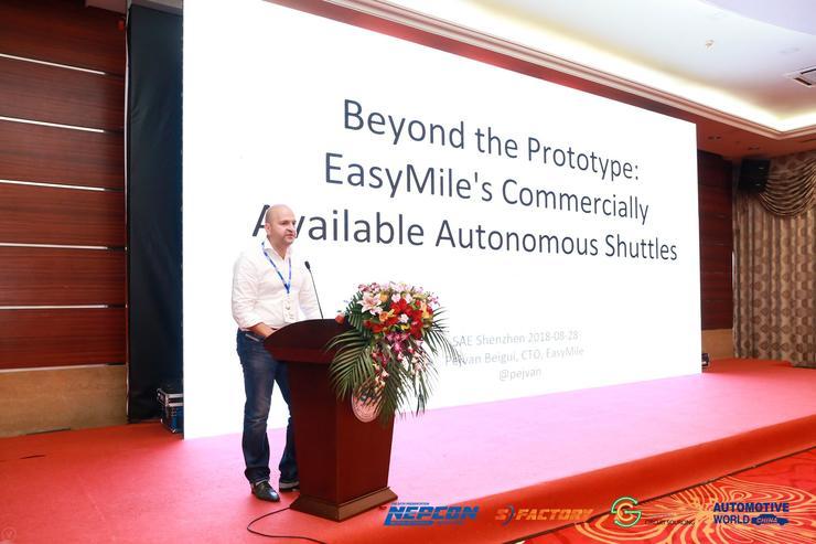 *Easymile CTO Pejvan Beigui在SAE 2018 自动驾驶汽车安全技术国际论坛上进行演讲