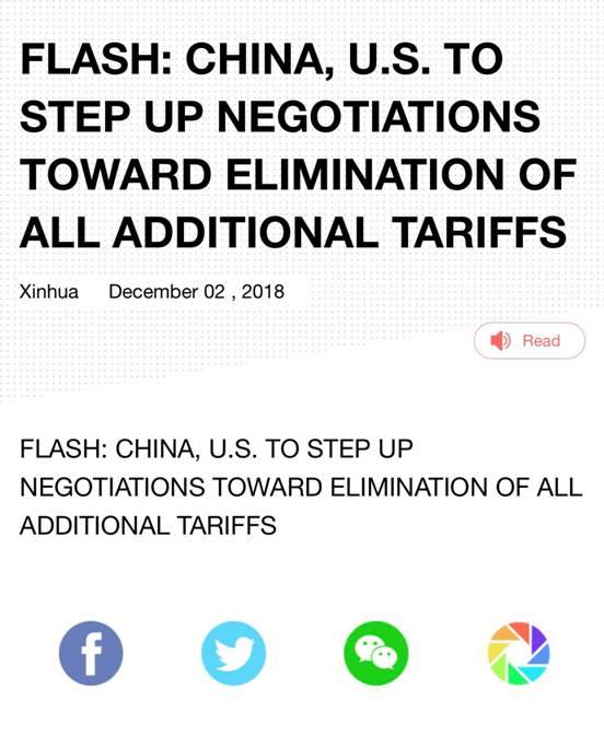 G20好消息传来中美贸易休战 美元遭打击金价攀升