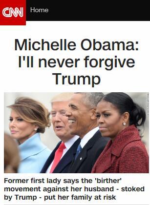 """""""永远不会原谅特朗普!"""" 米歇尔"""