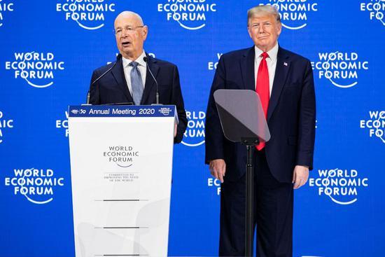 世界经济论坛创始人克劳斯·施瓦布与特朗普
