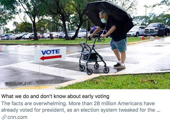 """3167万选民已为美国大选提前投票 两党""""战况""""如何?+ads外汇平台"""