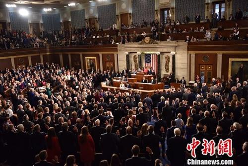 资料图:美国国会。中新社记者 沙晗汀 摄
