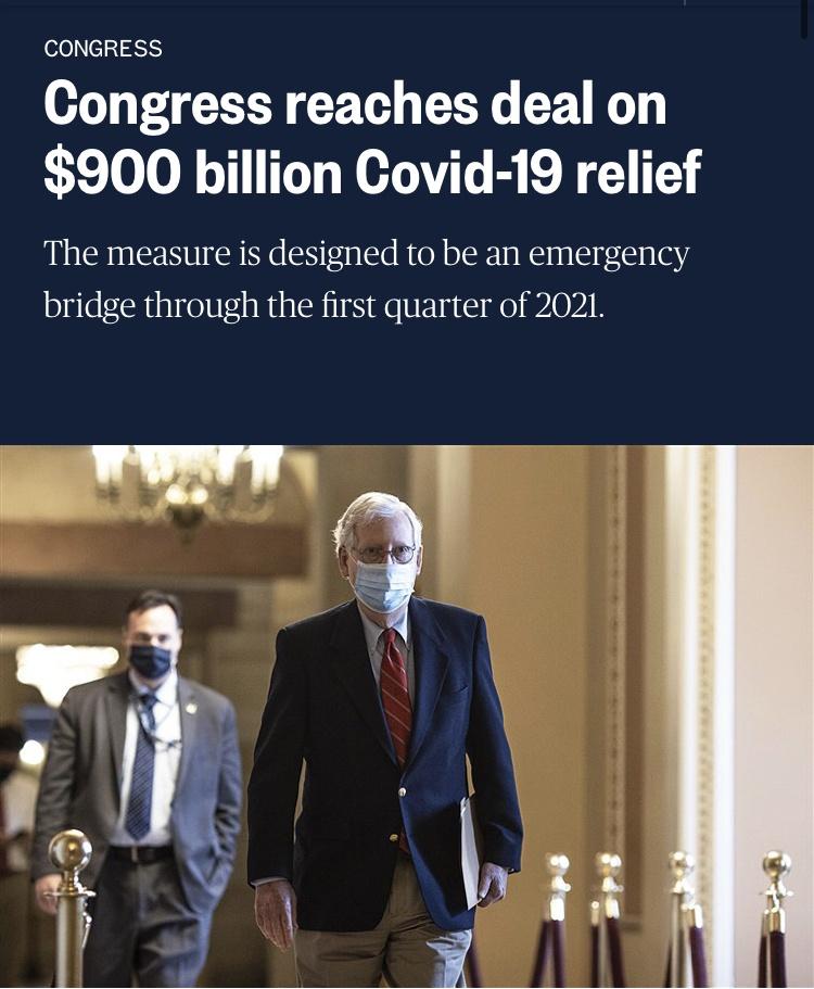 美国就9000亿美元新冠纾困法案达成协议,CPT Markets