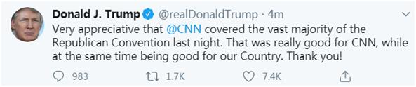 活久见!特朗普居然夸起了CNN+财务外汇返佣网