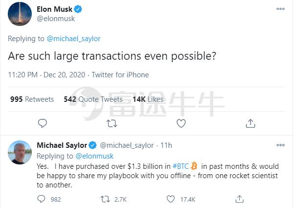 比特币暴涨 马斯克也心动了!与大佬在线探讨投资之道