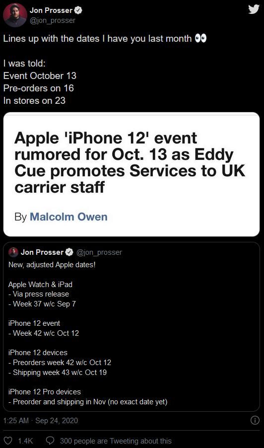 """泄密者确认10月13日苹果举办""""iPhone 12""""活动"""