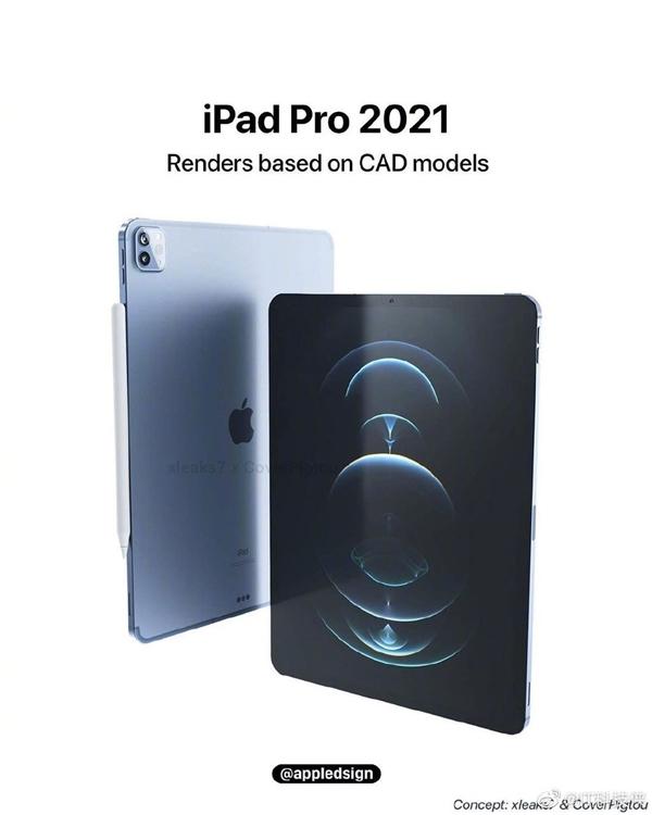 新iPad Pro渲染图曝光:Mini LED全面屏 视觉效果拉满