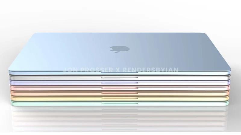 蘋果新一代七彩MacBook Air渲染圖曝光:白色鍵盤