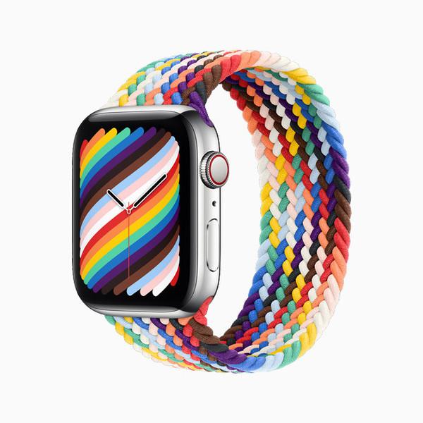 Apple Watch新版彩虹表帶上線 搭配全新表盤379元起