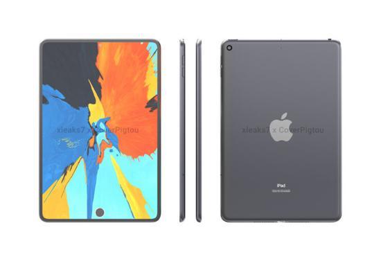 苹果iPad Mini 6高清渲染图曝光:采用屏下Touch ID
