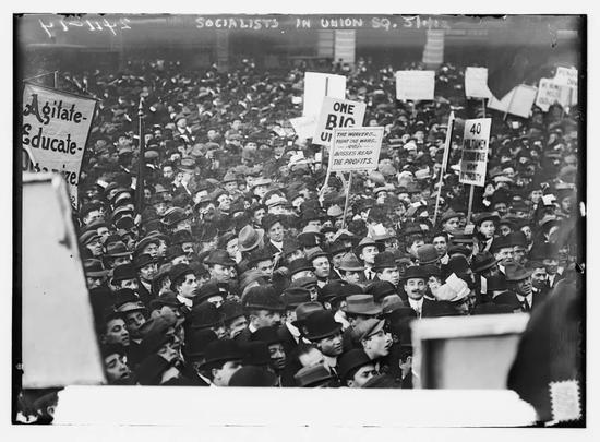 1912年5月1日,美國紐約勞工自發紀念五一勞動節丨The Library of Congress