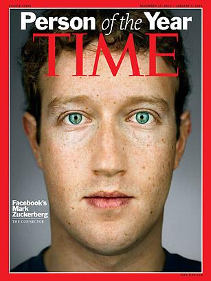 2010年《时代周刊》年度人物为扎克伯格。
