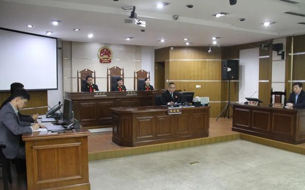 庭审现场。图片来源:富阳法院官网