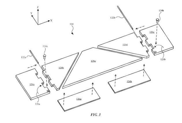 新专利显示苹果开发更薄的铰链以及改善iPad键盘触觉反馈
