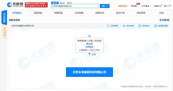 联想关联公司成立北京未来像素科技有限公司