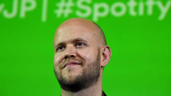 Spotify CEO宣布10亿欧元投资创业公司 占其财富1/3